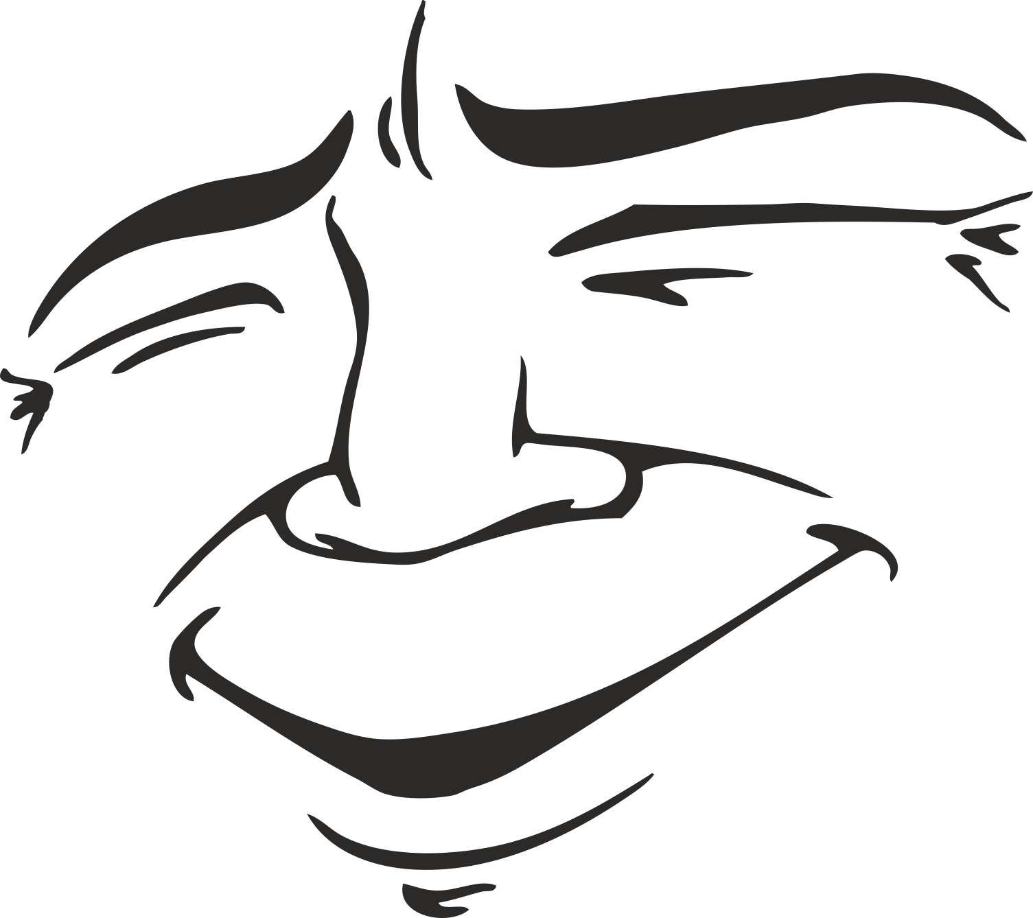 Face Vector Mens Smiley 15 Free DXF File