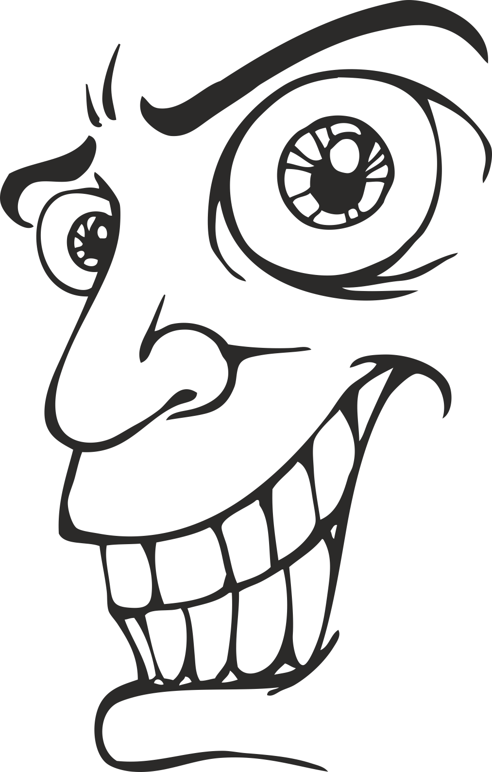 Face Vector Mens Smiley 16 Free DXF File