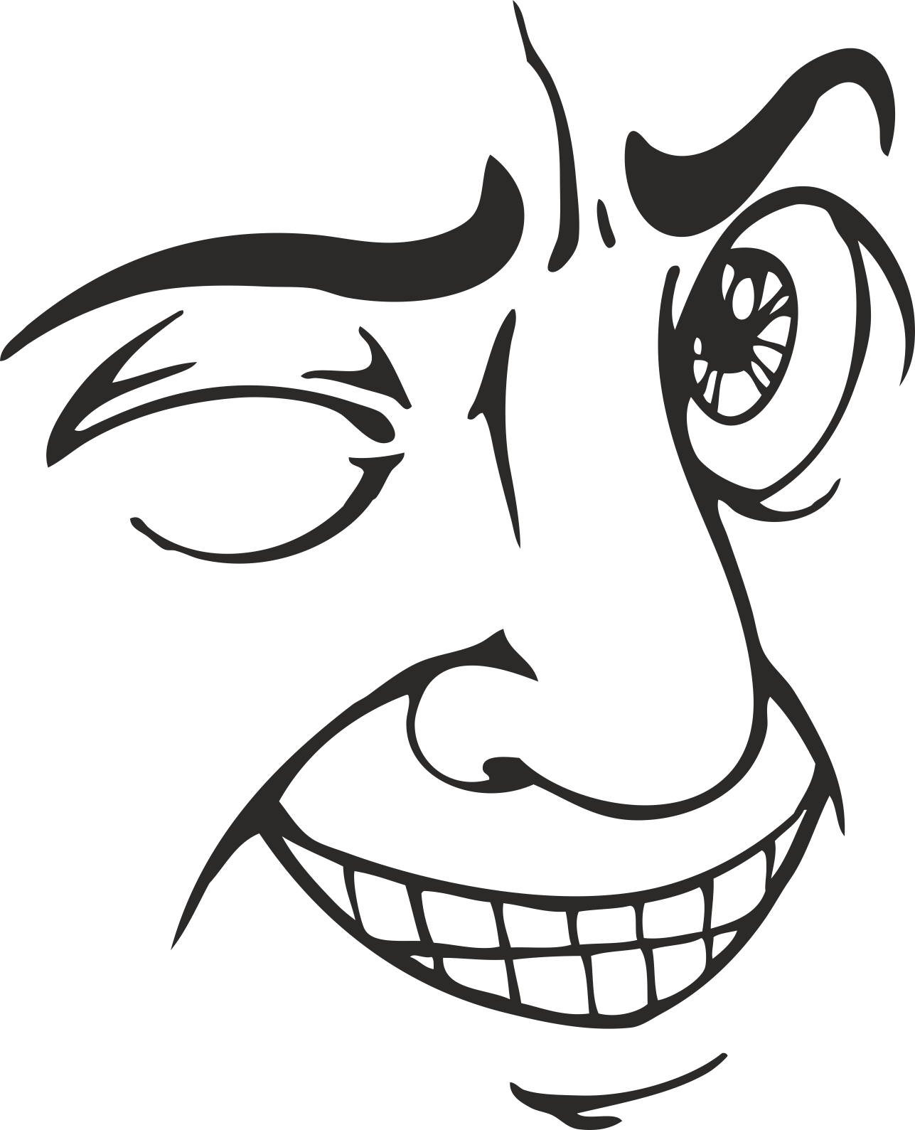 Face Vector Mens Smiley 17 Free DXF File