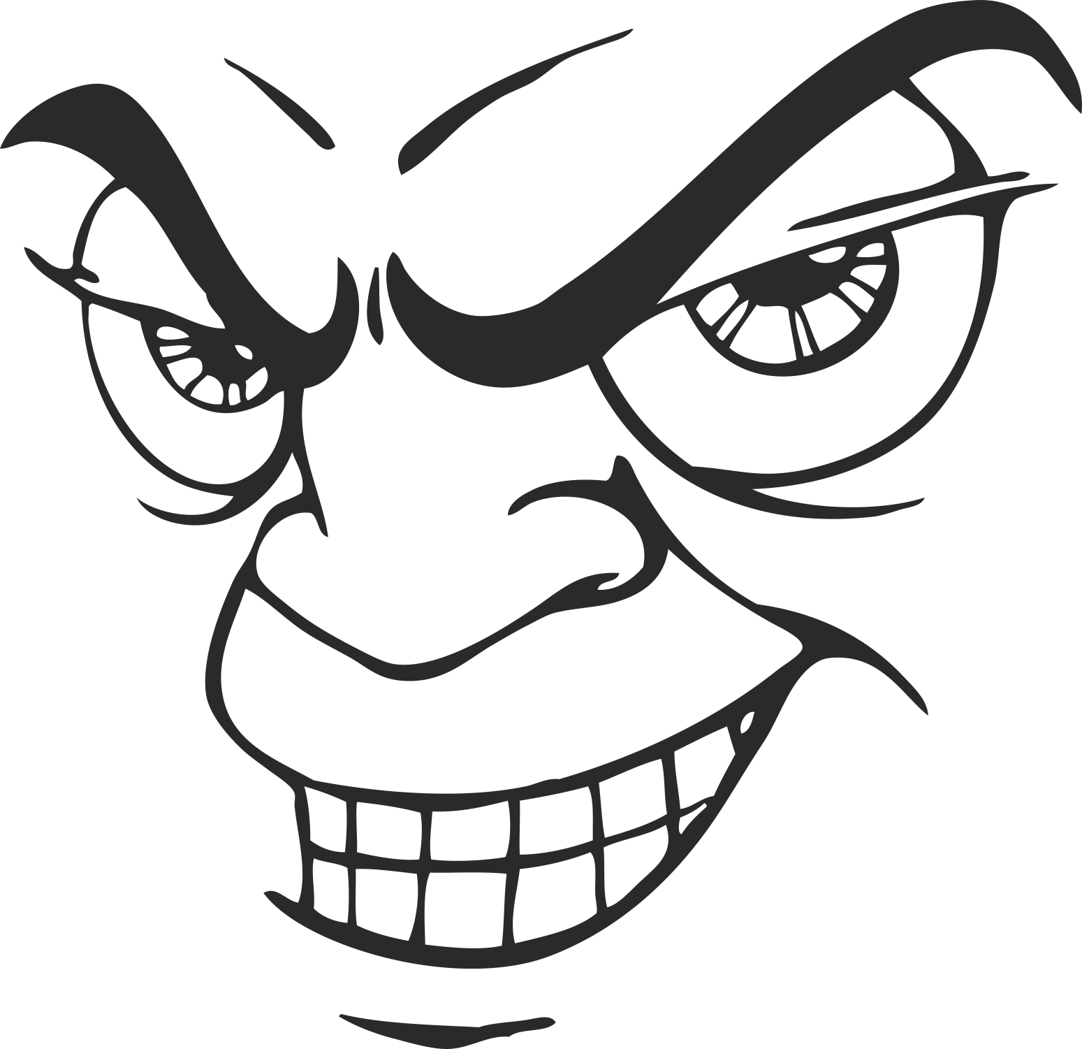 Face Vector Mens Smiley 19 Free DXF File