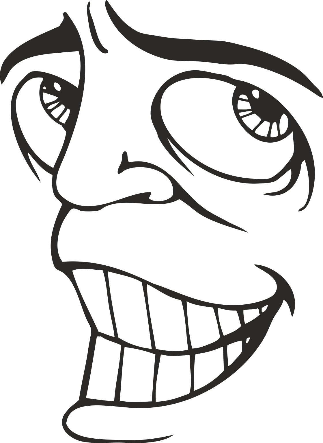 Face Vector Mens Smiley 20 Free DXF File