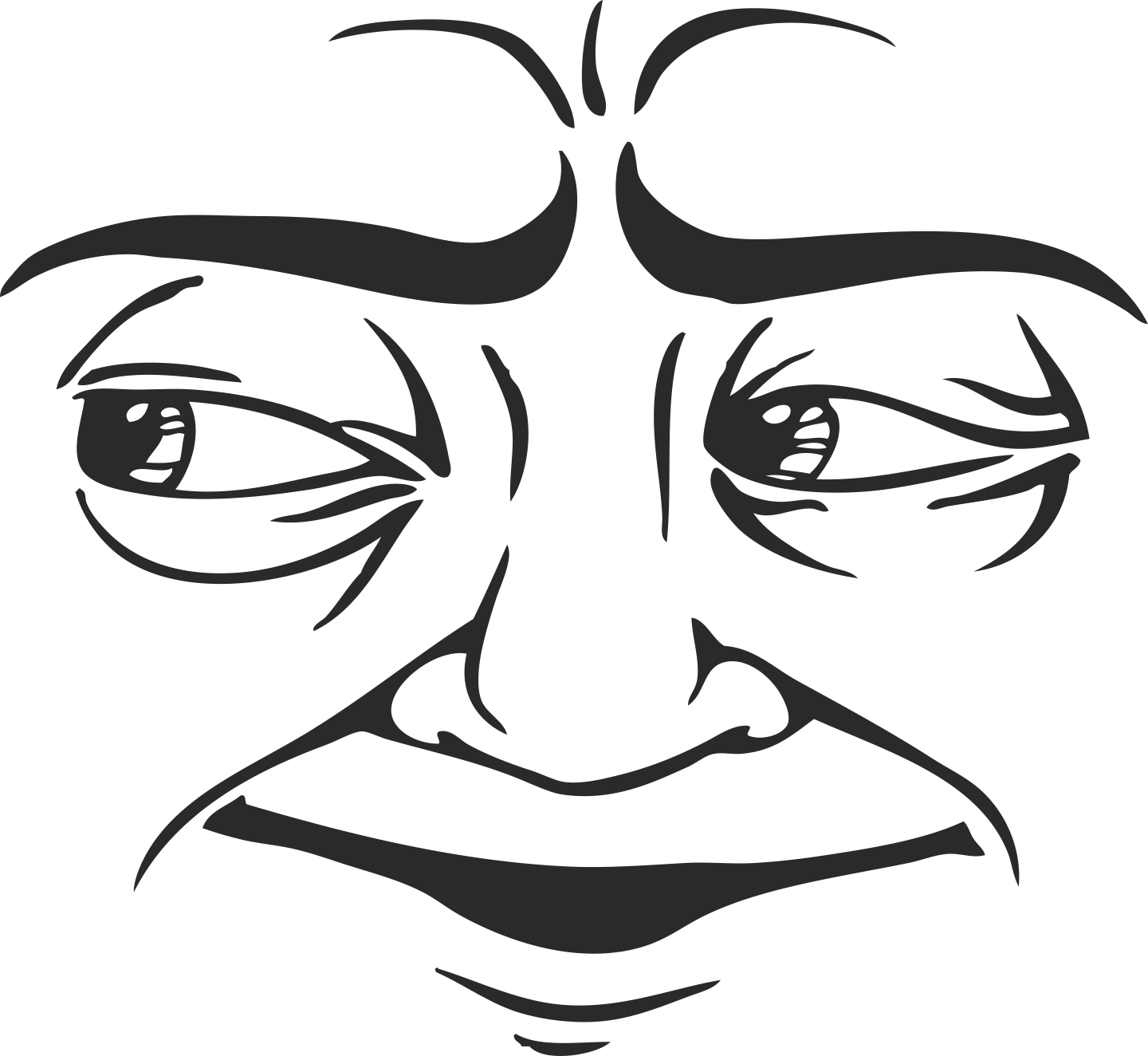 Face Vector Mens Smiley 23 Free DXF File