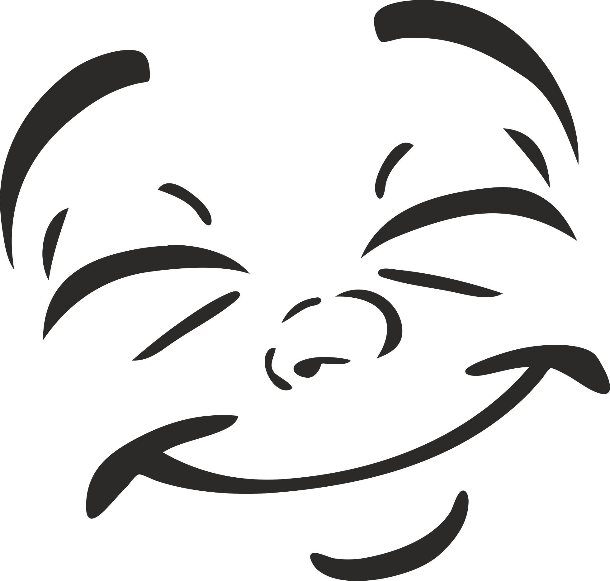 Smiley Collection Vector For Plotter Cutting 08 Free DXF File
