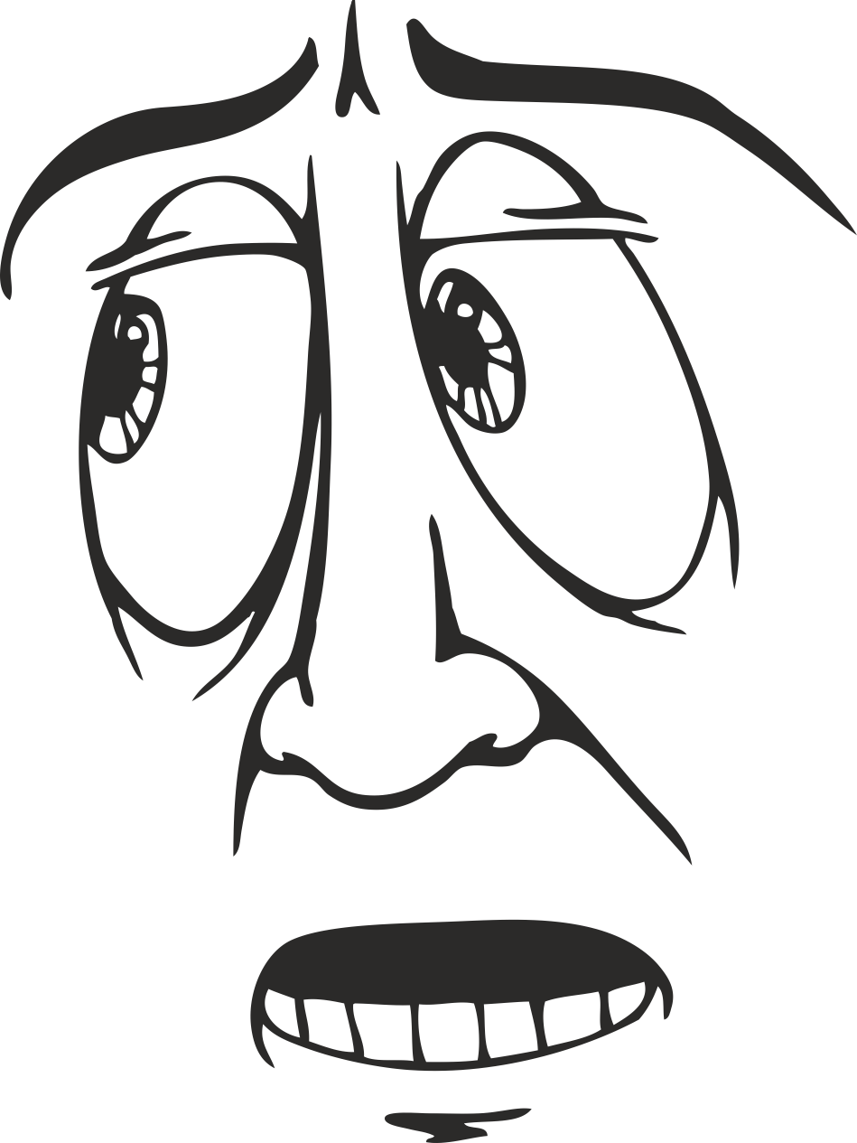 Mens Face Facial Smileys Expression 07 Free DXF File