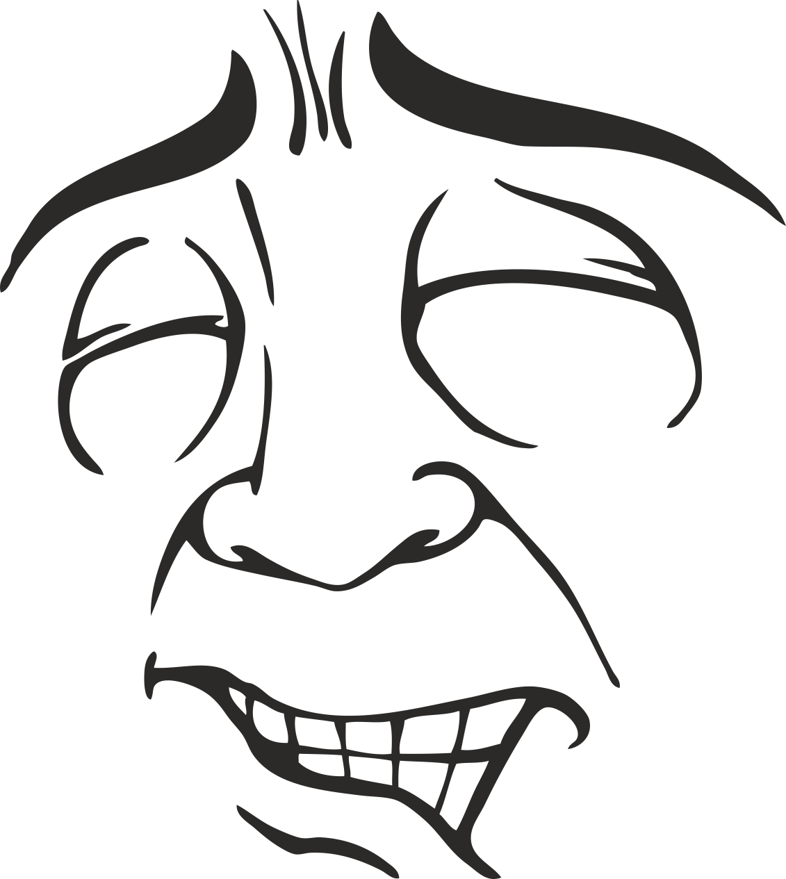 Mens Face Facial Smileys Expression 09 Free DXF File
