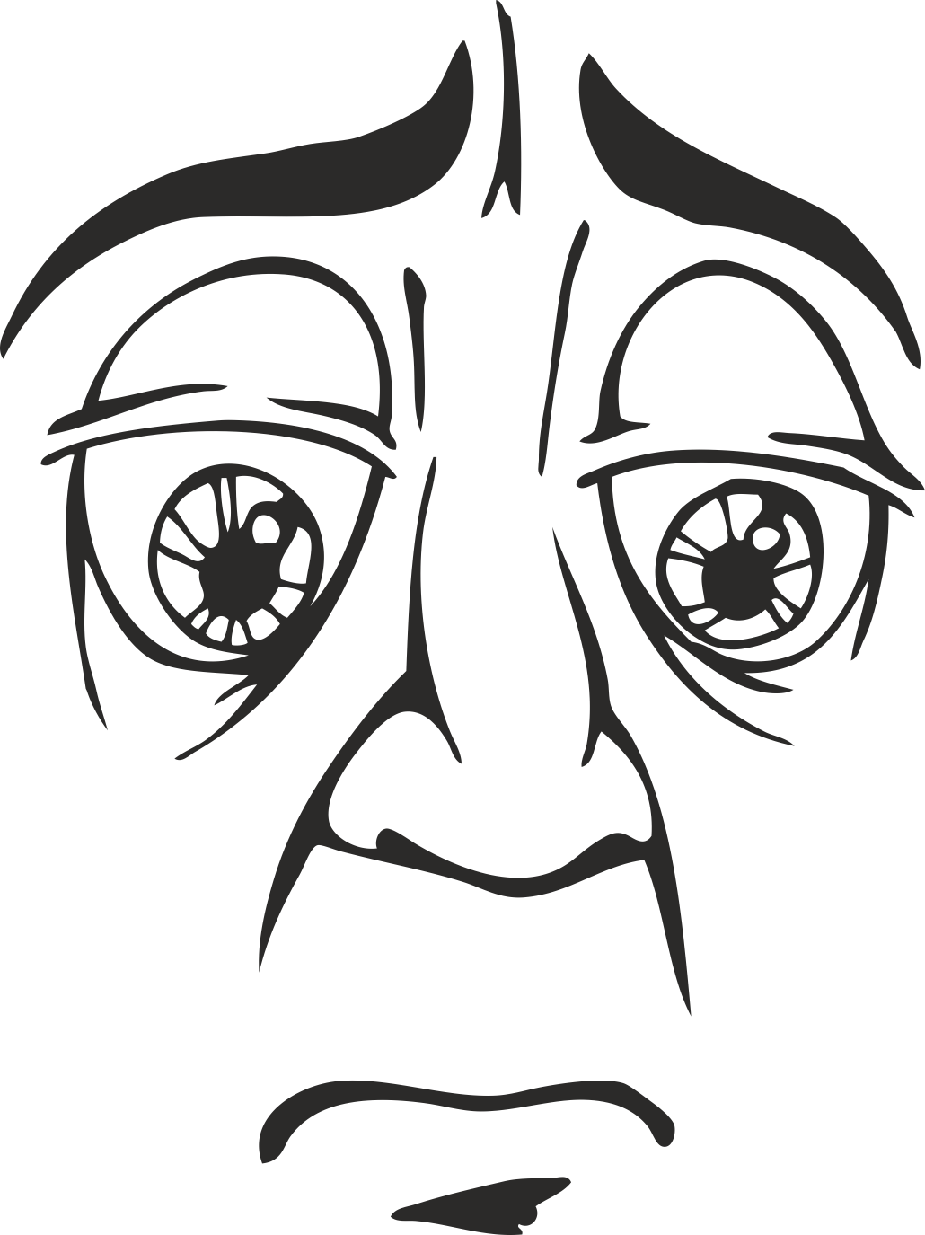 Mens Face Facial Smileys Expression 11 Free DXF File