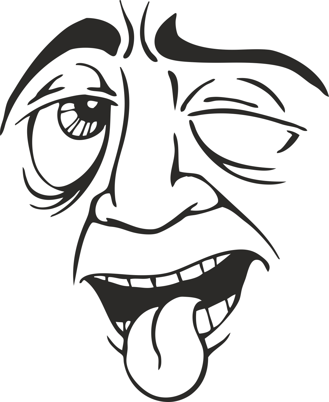 Mens Face Facial Smileys Expression 12 Free DXF File