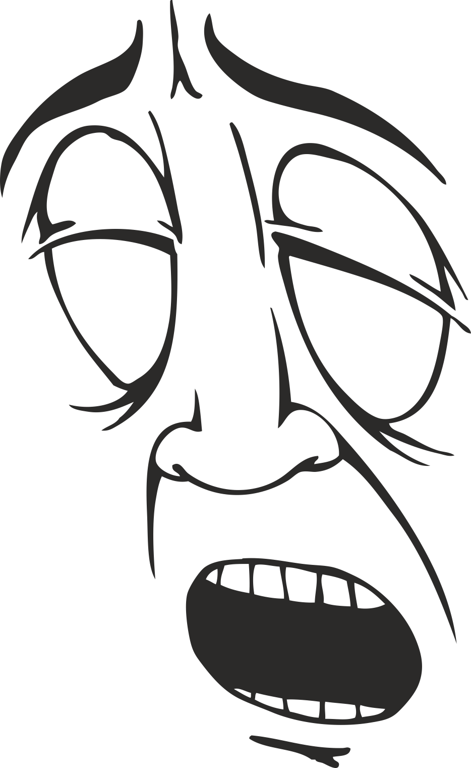 Mens Face Facial Smileys Expression 17 Free DXF File