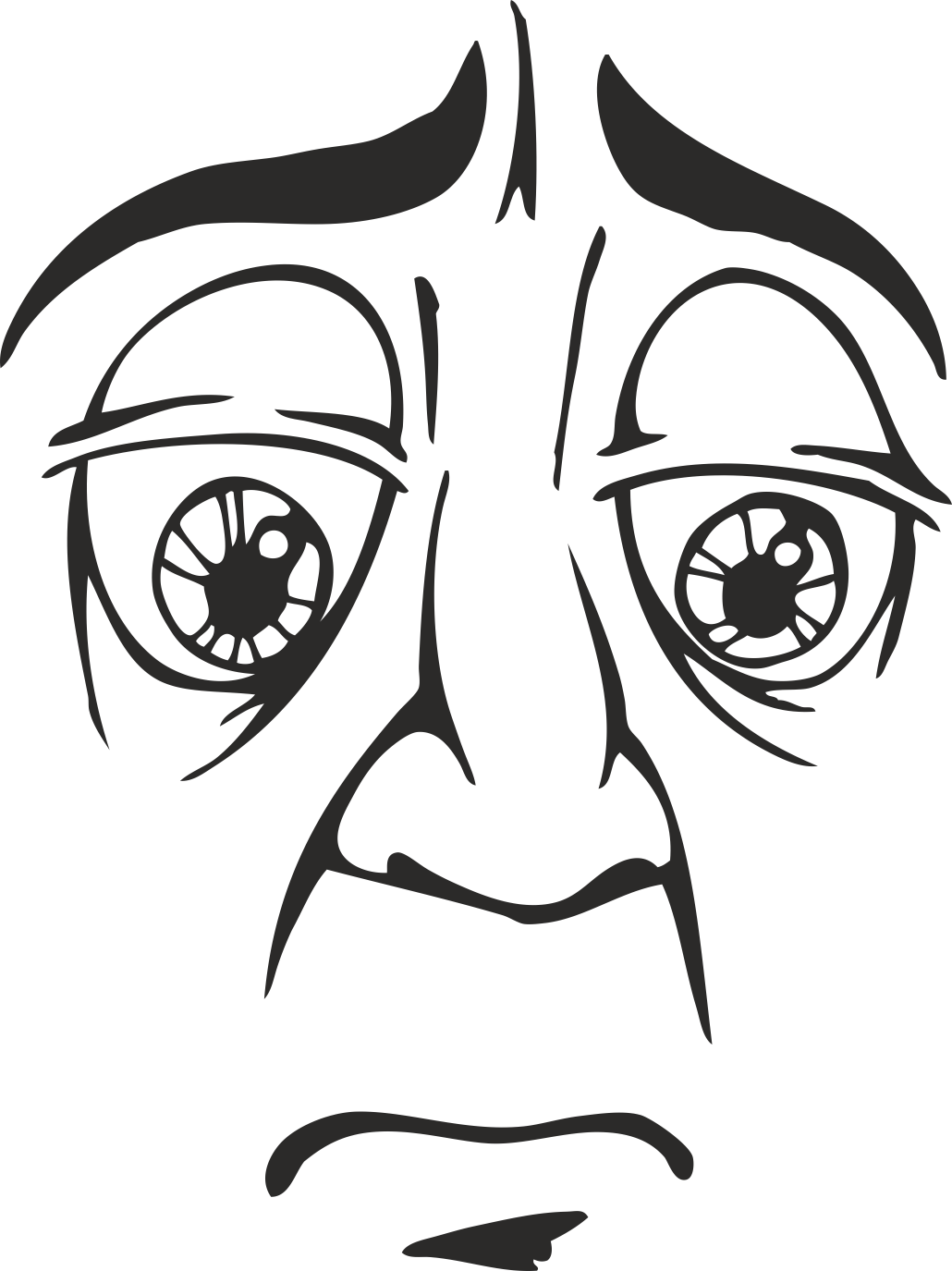 Mens Face Facial Smileys Expression 23 Free DXF File