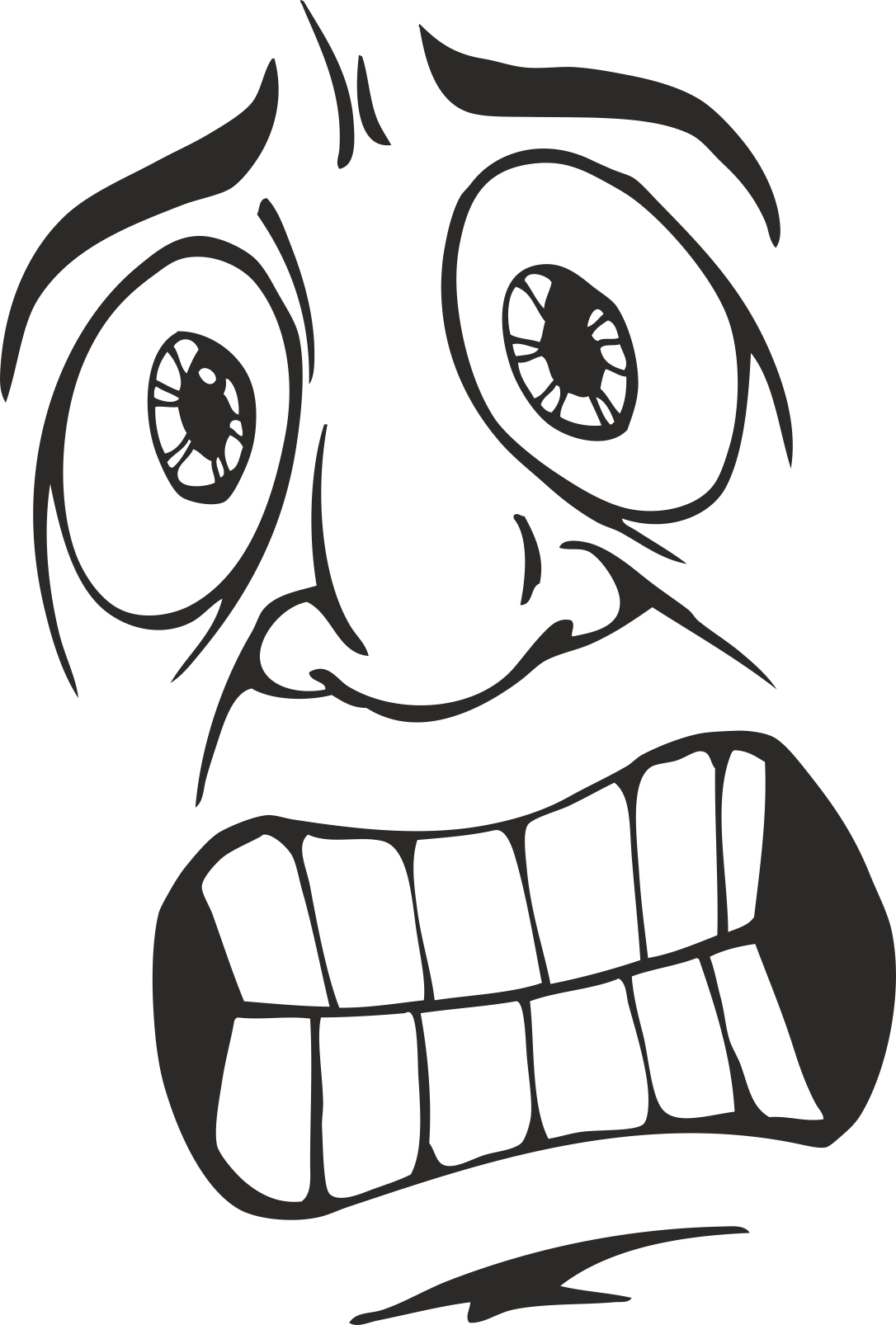 Mens Face Facial Smileys Expression 26 Free DXF File