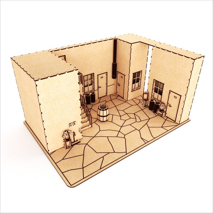 Doll House Decoration For A Game Free DXF File