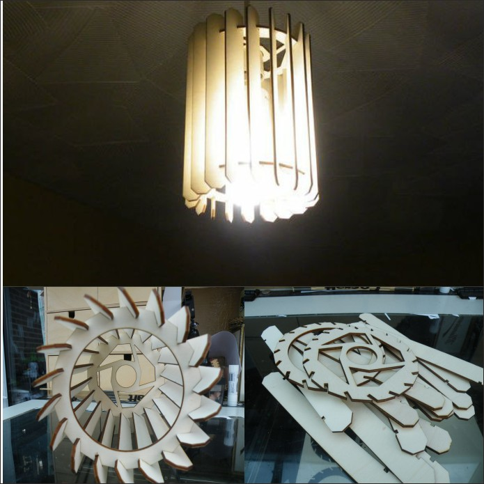 Chandelier For Laser Cutting Plywood Cylinder Free DXF File