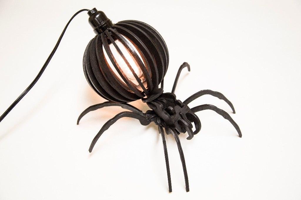 Spider Desktop Lamp Layout Decoration Free DXF File