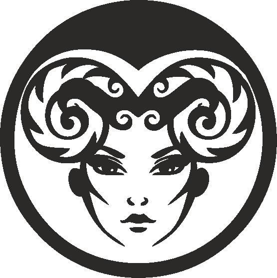 Funny Zodiac Female Faces Sign 01 Free DXF File
