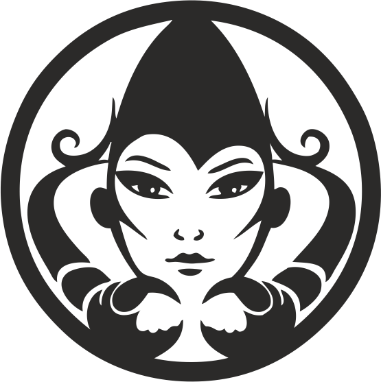 Funny Zodiac Female Faces Sign 02 Free DXF File