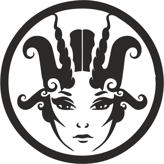 Funny Zodiac Female Faces Sign 04 Free DXF File