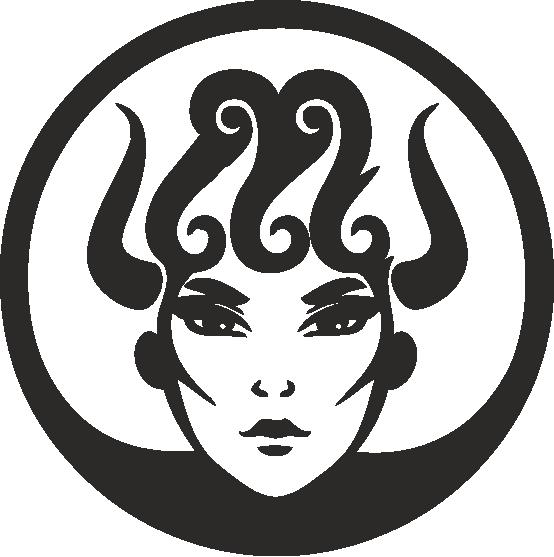 Funny Zodiac Female Faces Sign 07 Free DXF File