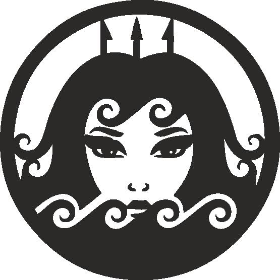 Funny Zodiac Female Faces Sign 08 Free DXF File