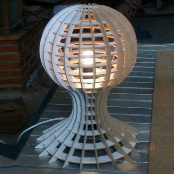 Model Of The Table Lamp Pawn Free DXF File