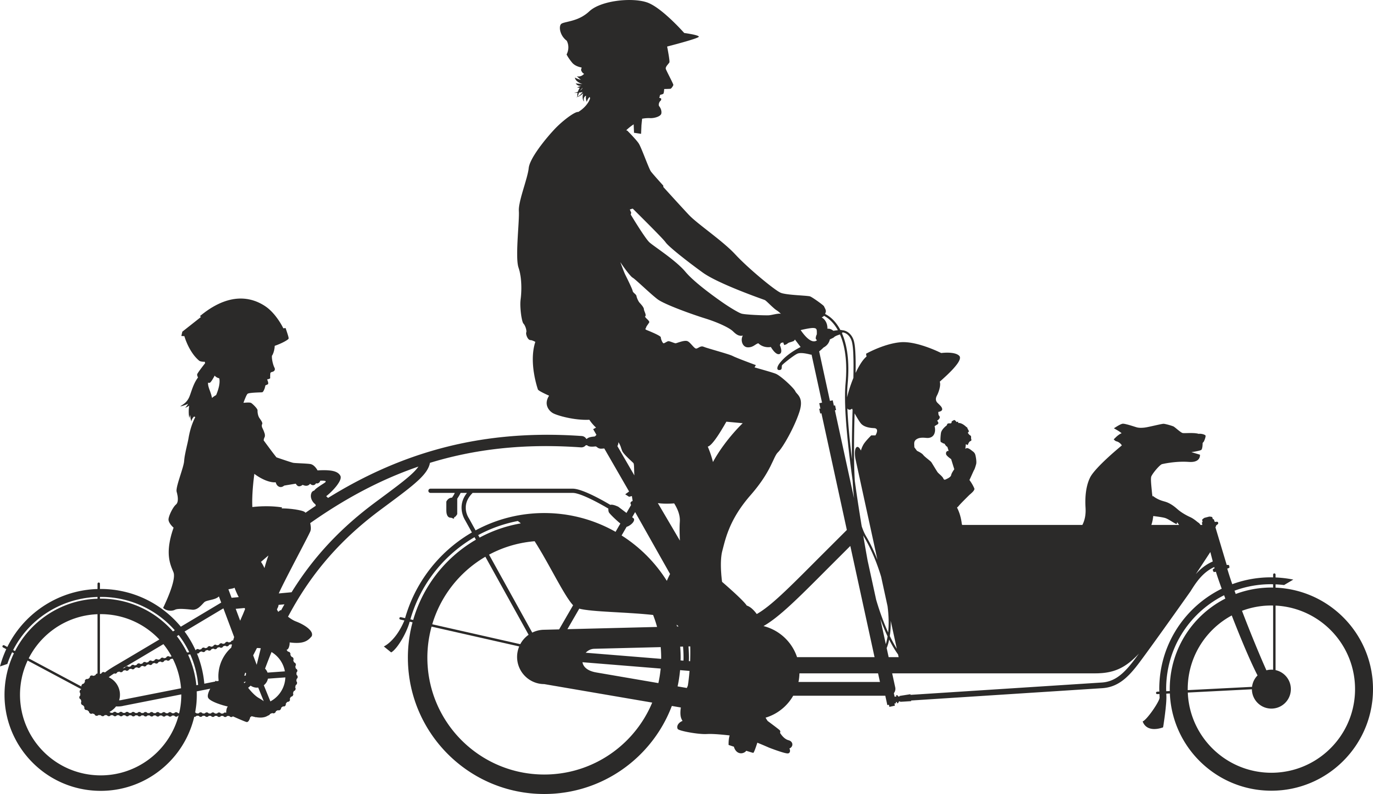 Silhouette Cyclist Collection Of Bicycle 02 Free DXF File