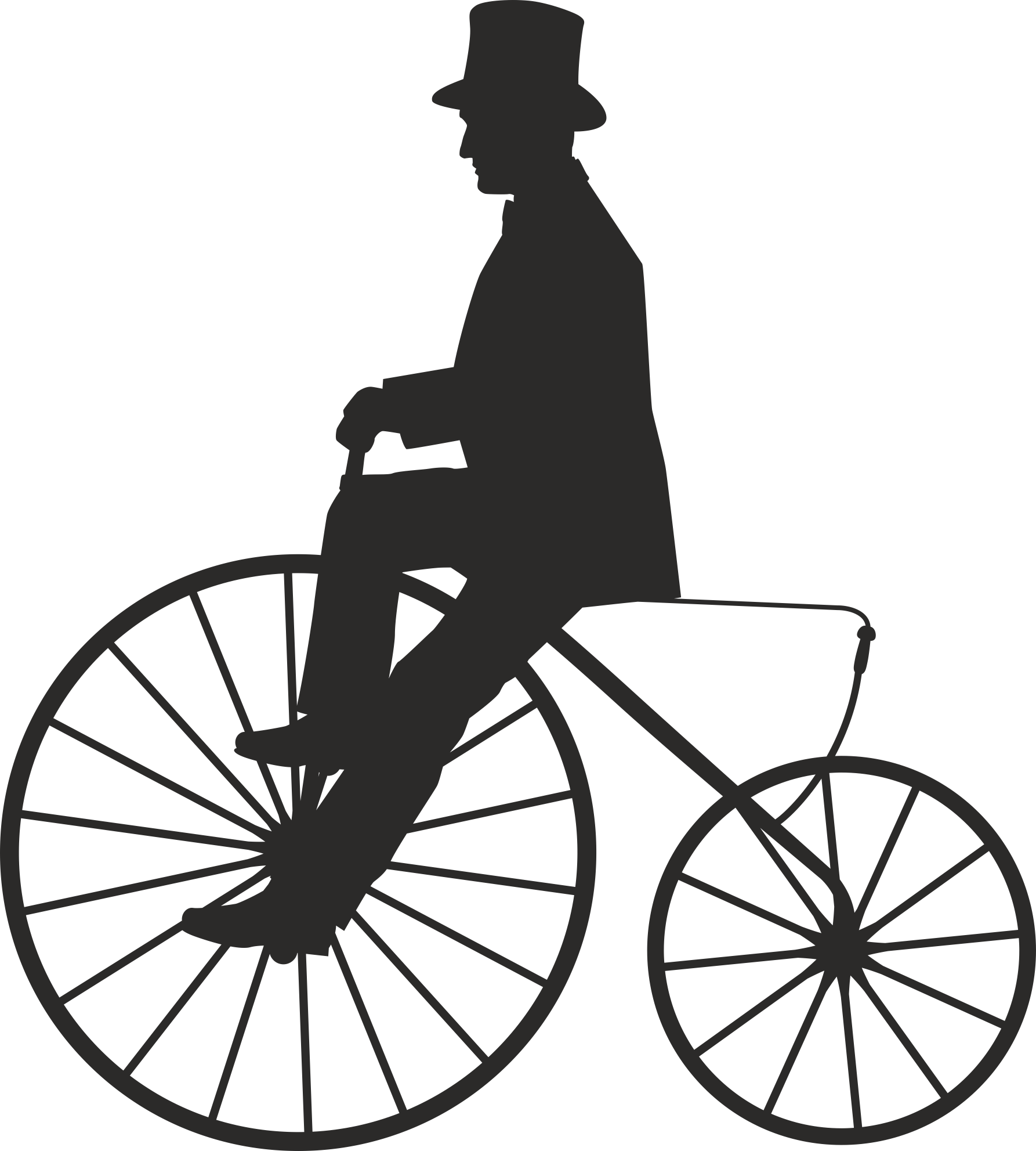 Silhouette Cyclist Collection Of Bicycle 03 Free DXF File