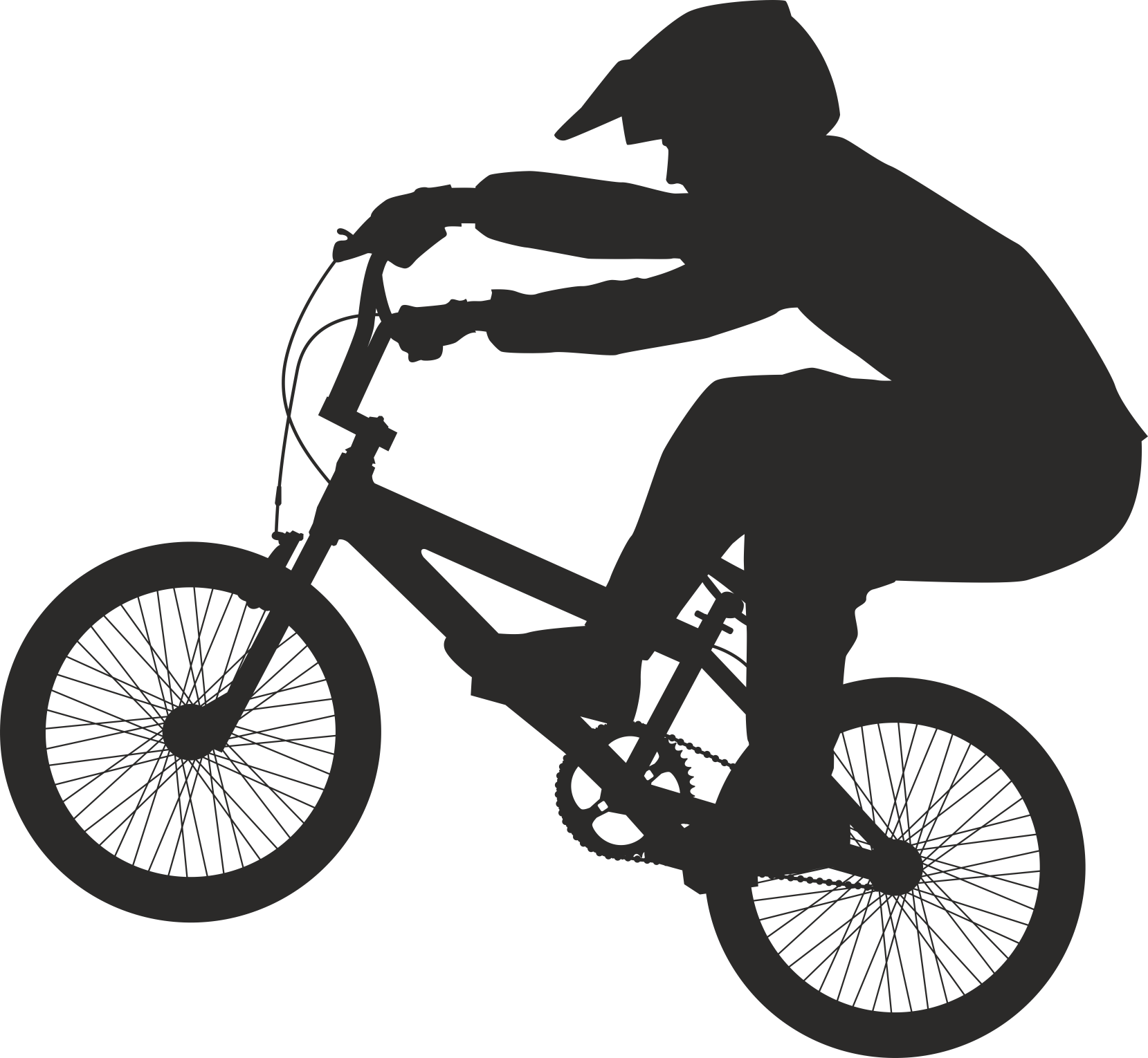 Silhouette Cyclist Collection Of Bicycle 08 Free DXF File