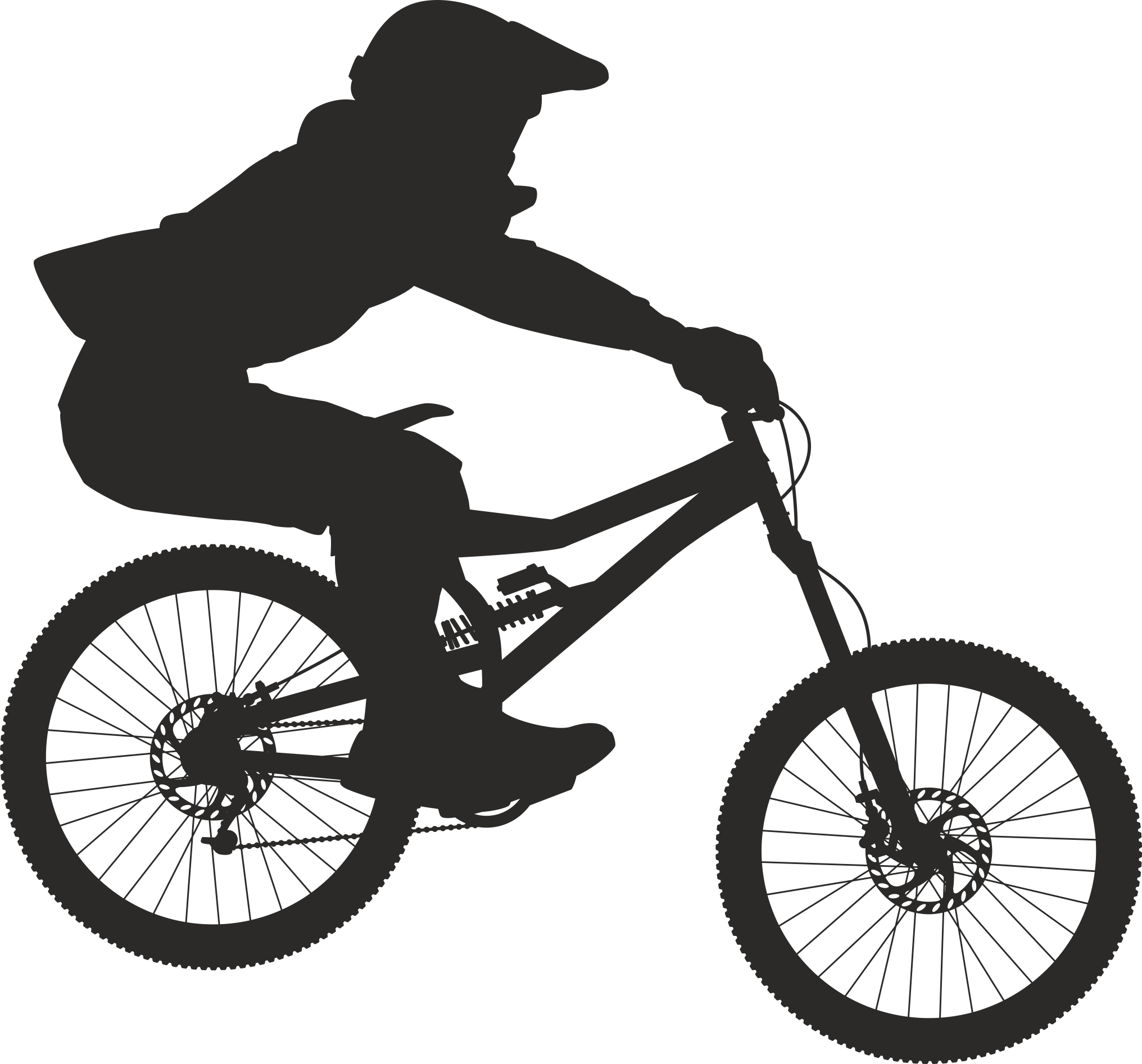 Silhouette Cyclist Collection Of Bicycle 09 Free DXF File