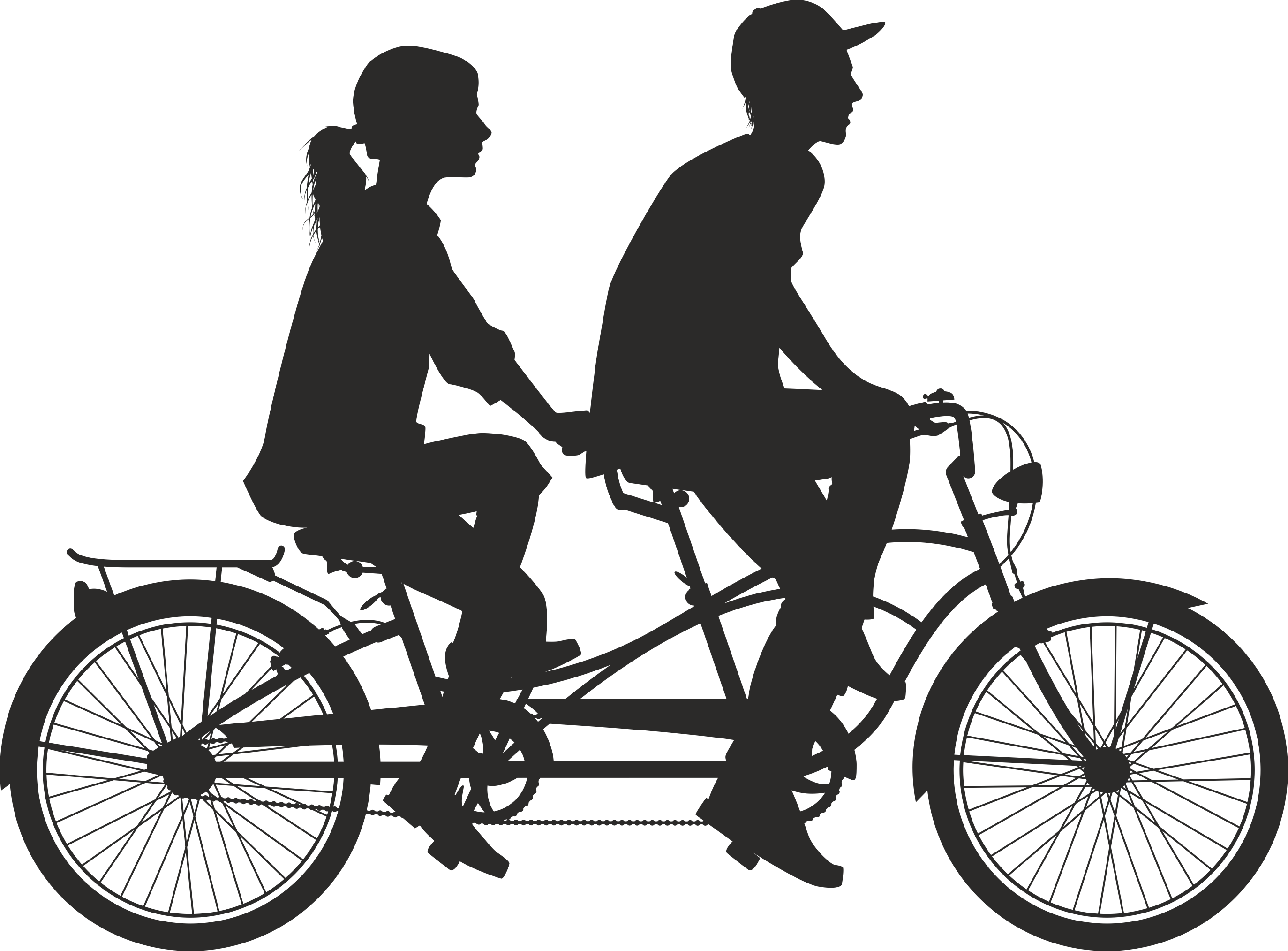 Silhouette Cyclist Collection Of Bicycle 10 Free DXF File