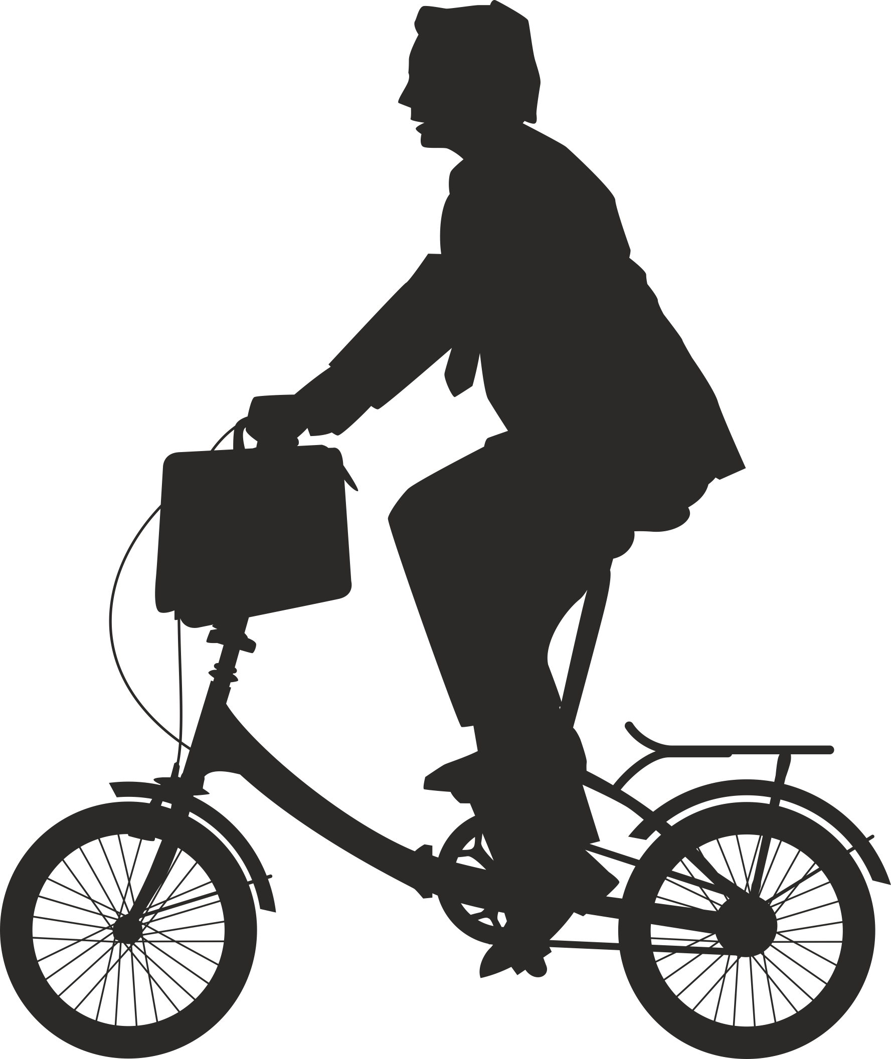 Silhouette Cyclist Collection Of Bicycle 11 Free DXF File