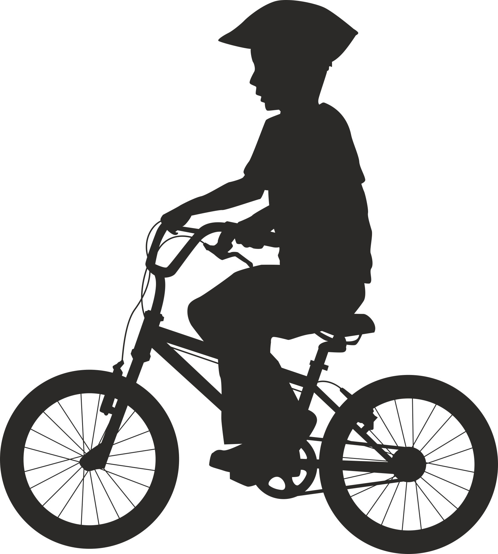 Silhouette Cyclist Collection Of Bicycle 12 Free DXF File