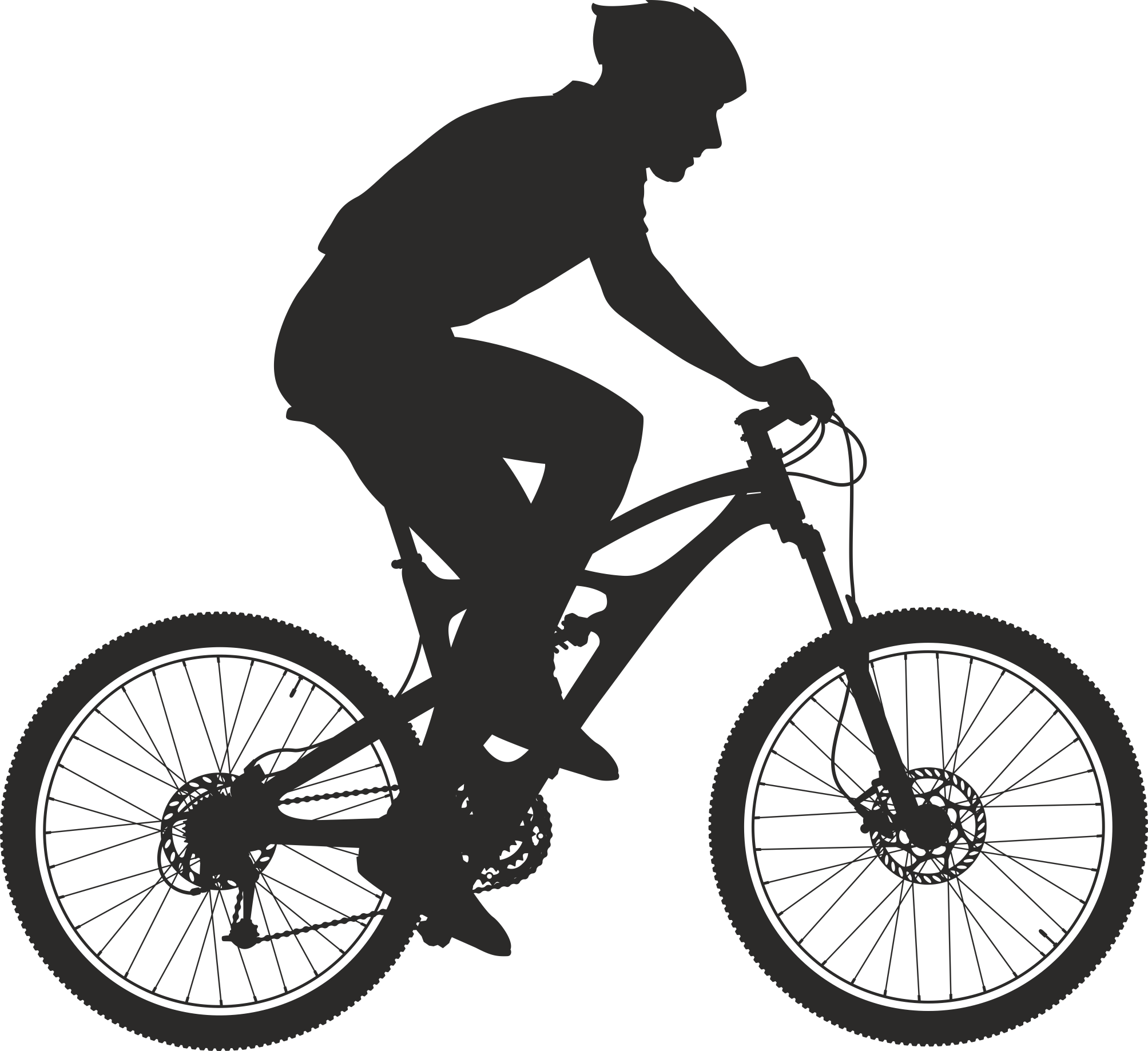 Silhouette Cyclist Collection Of Bicycle 13 Free DXF File