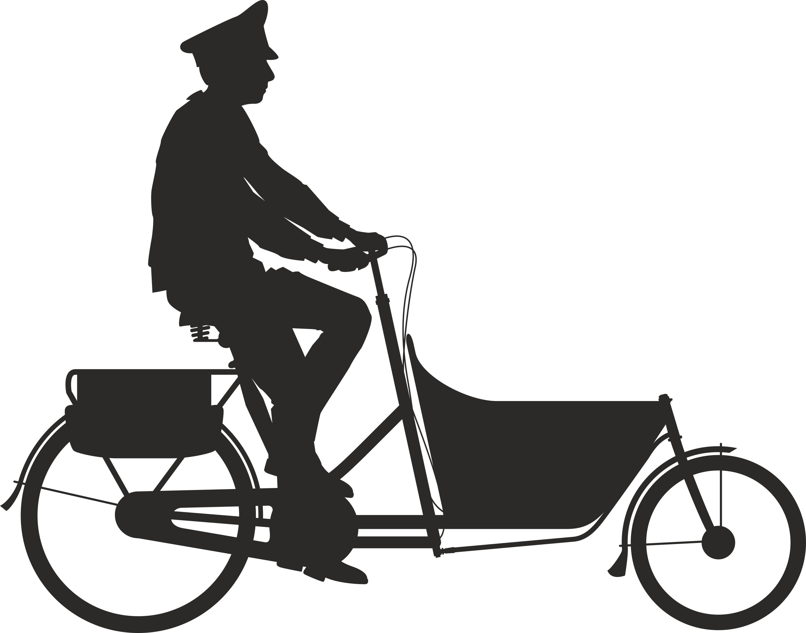 Silhouette Cyclist Collection Of Bicycle 14 Free DXF File