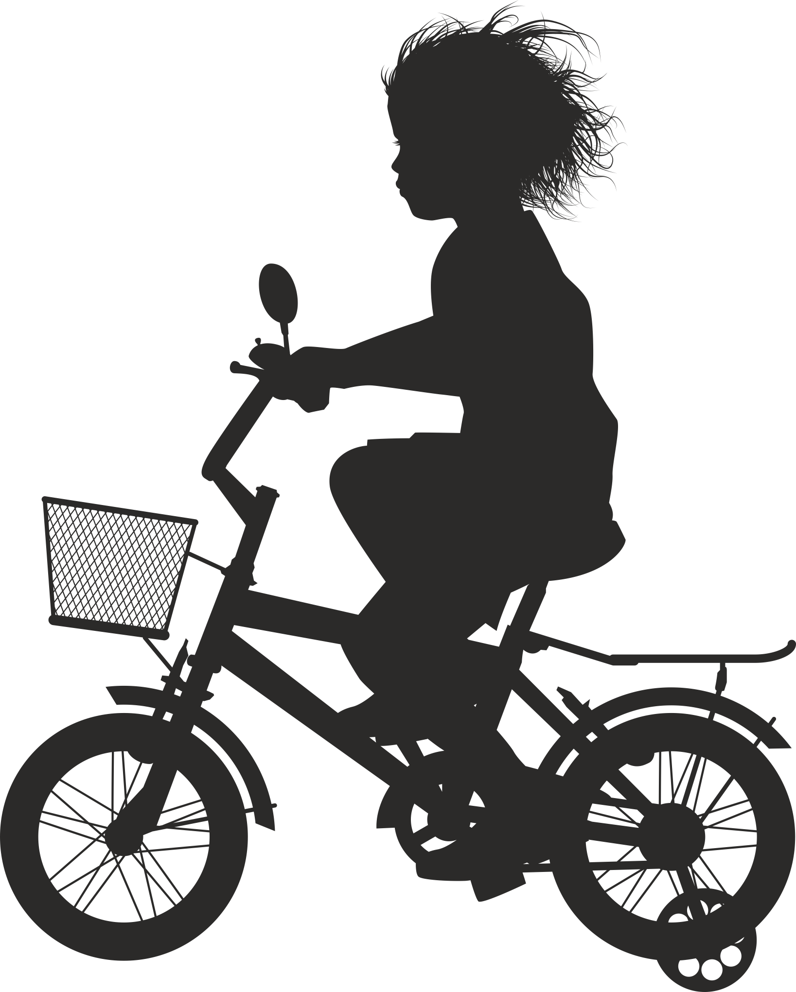 Silhouette Cyclist Collection Of Bicycle 16 Free DXF File