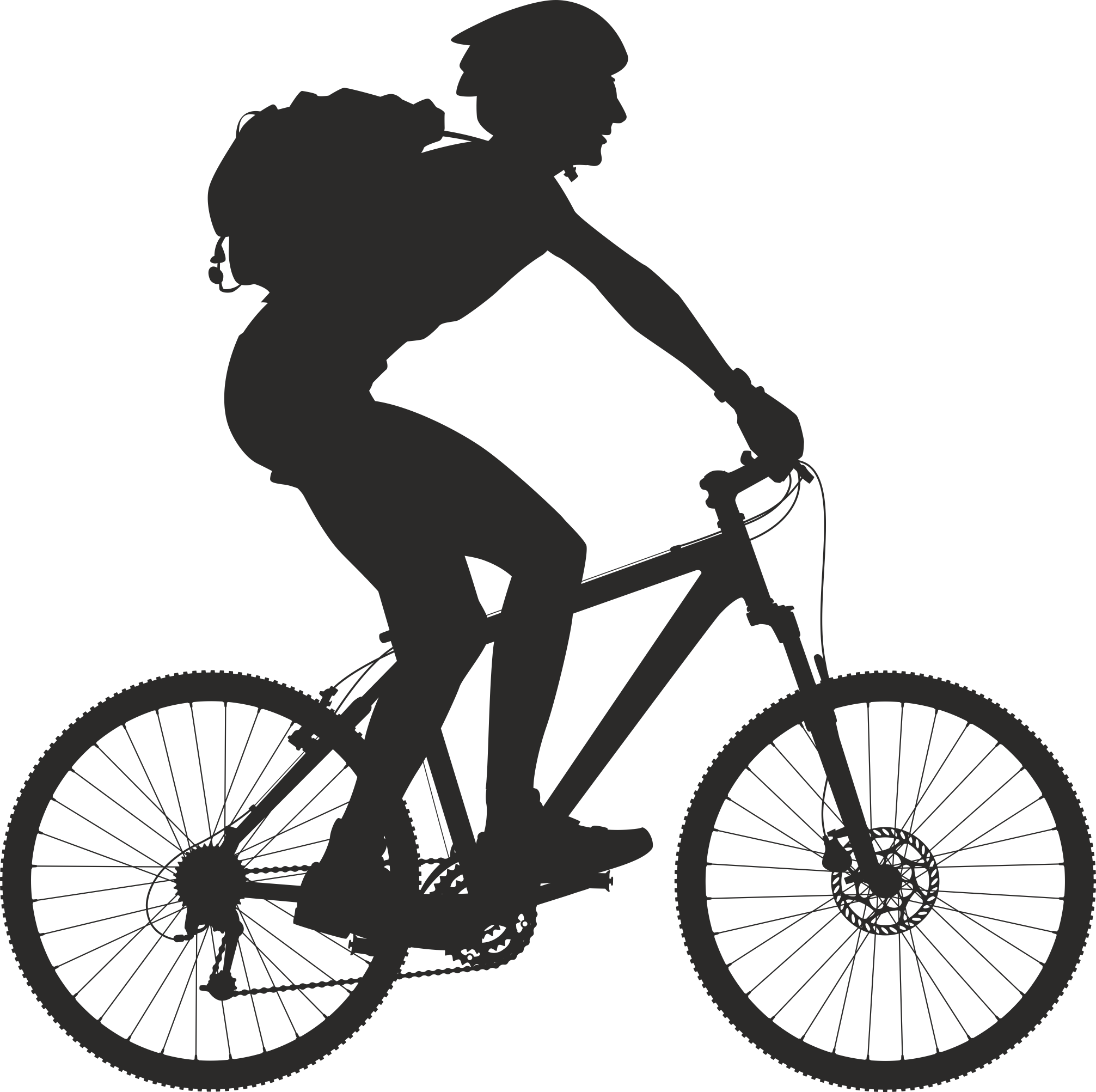 Silhouette Cyclist Collection Of Bicycle 17 Free DXF File