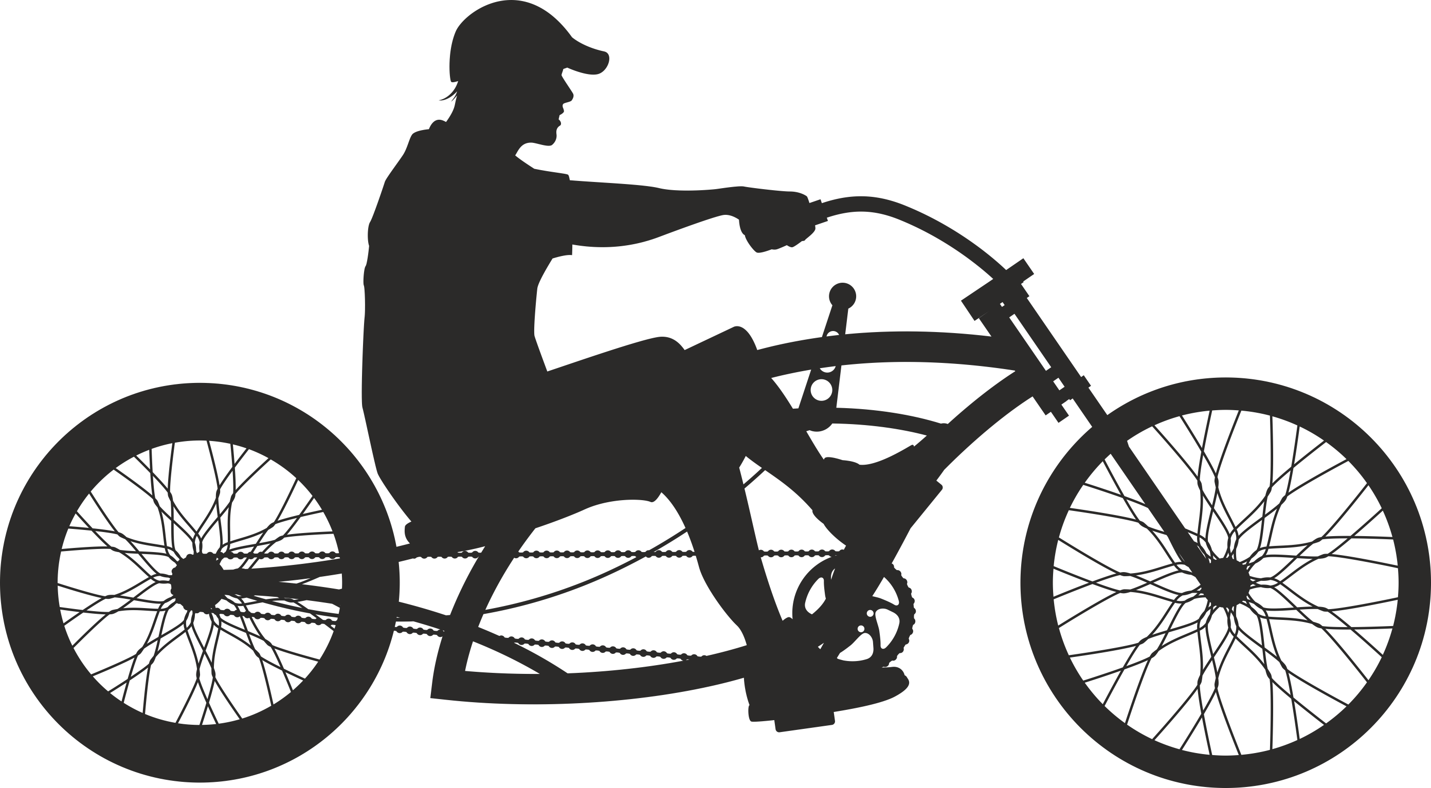 Silhouette Cyclist Collection Of Bicycle 18 Free DXF File