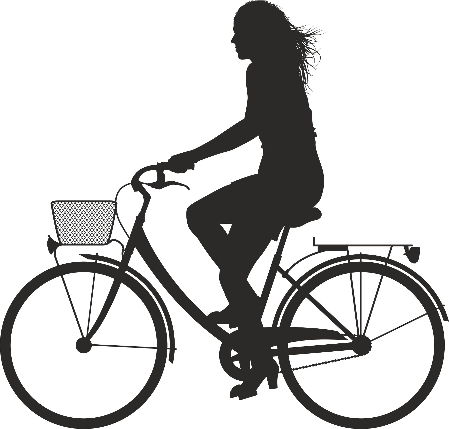 Silhouette Cyclist Collection Of Bicycle 19 Free DXF File