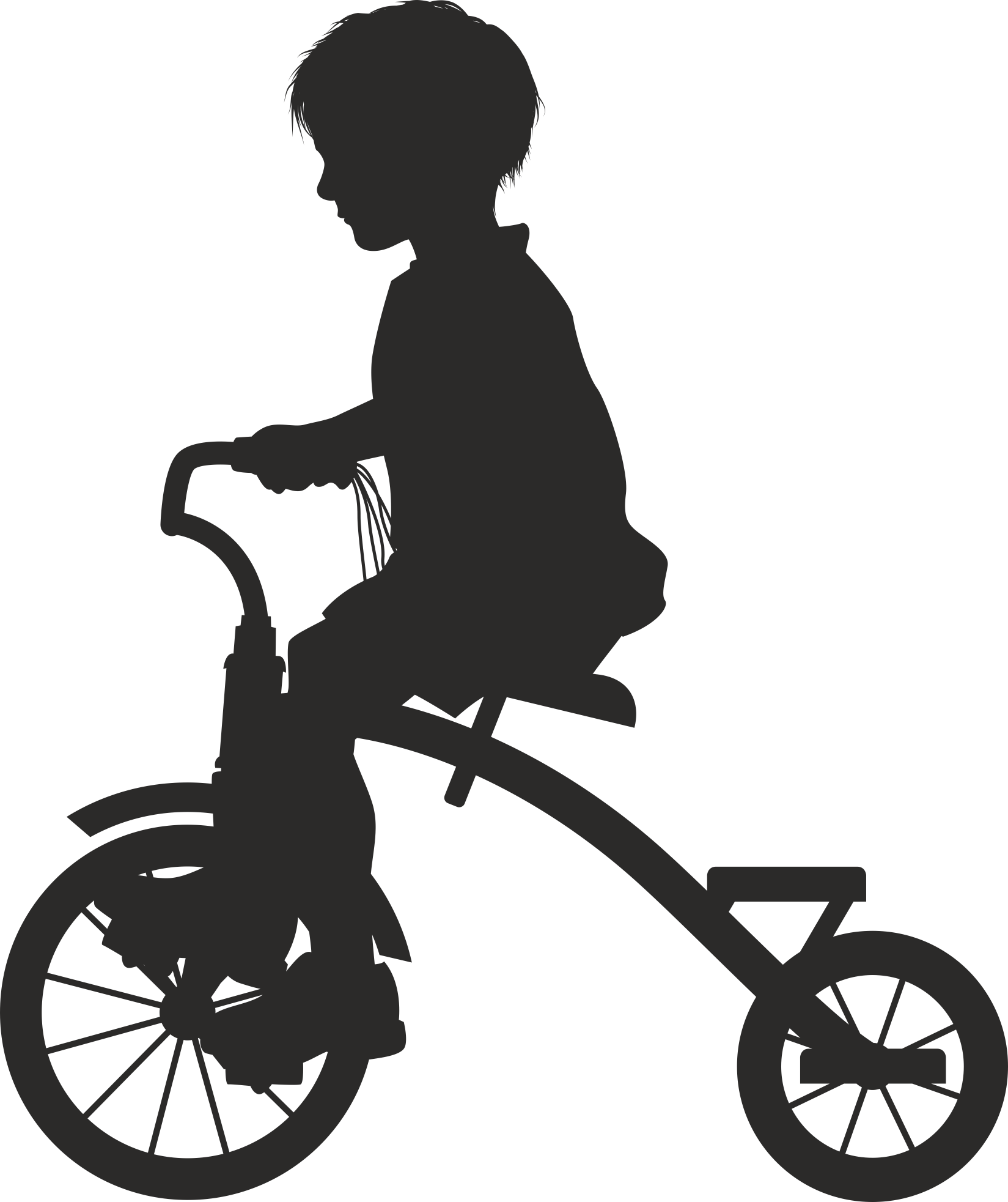 Silhouette Cyclist Collection Of Bicycle 20 Free DXF File