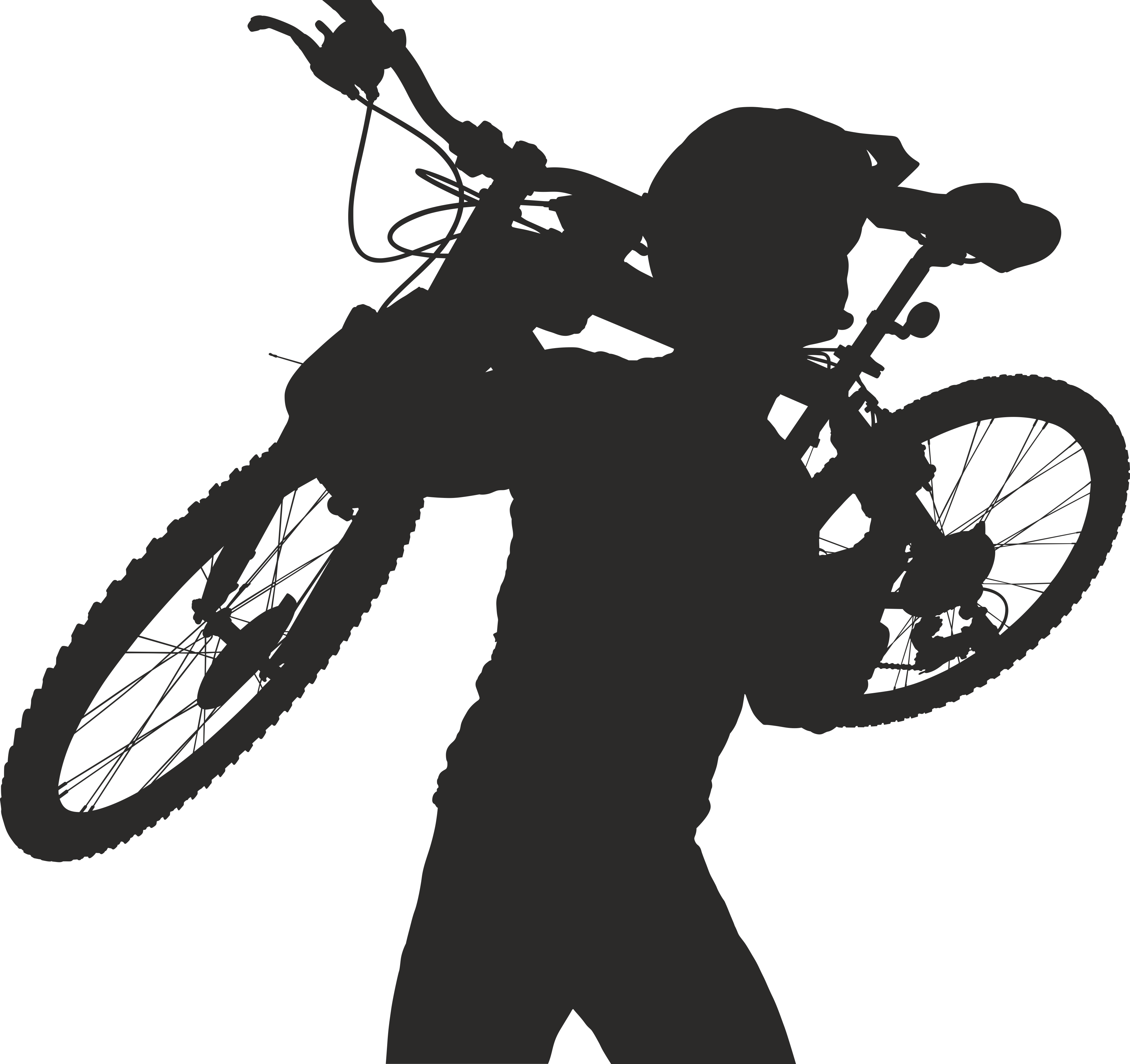 Silhouette Cyclist Collection Of Bicycle 21 Free DXF File