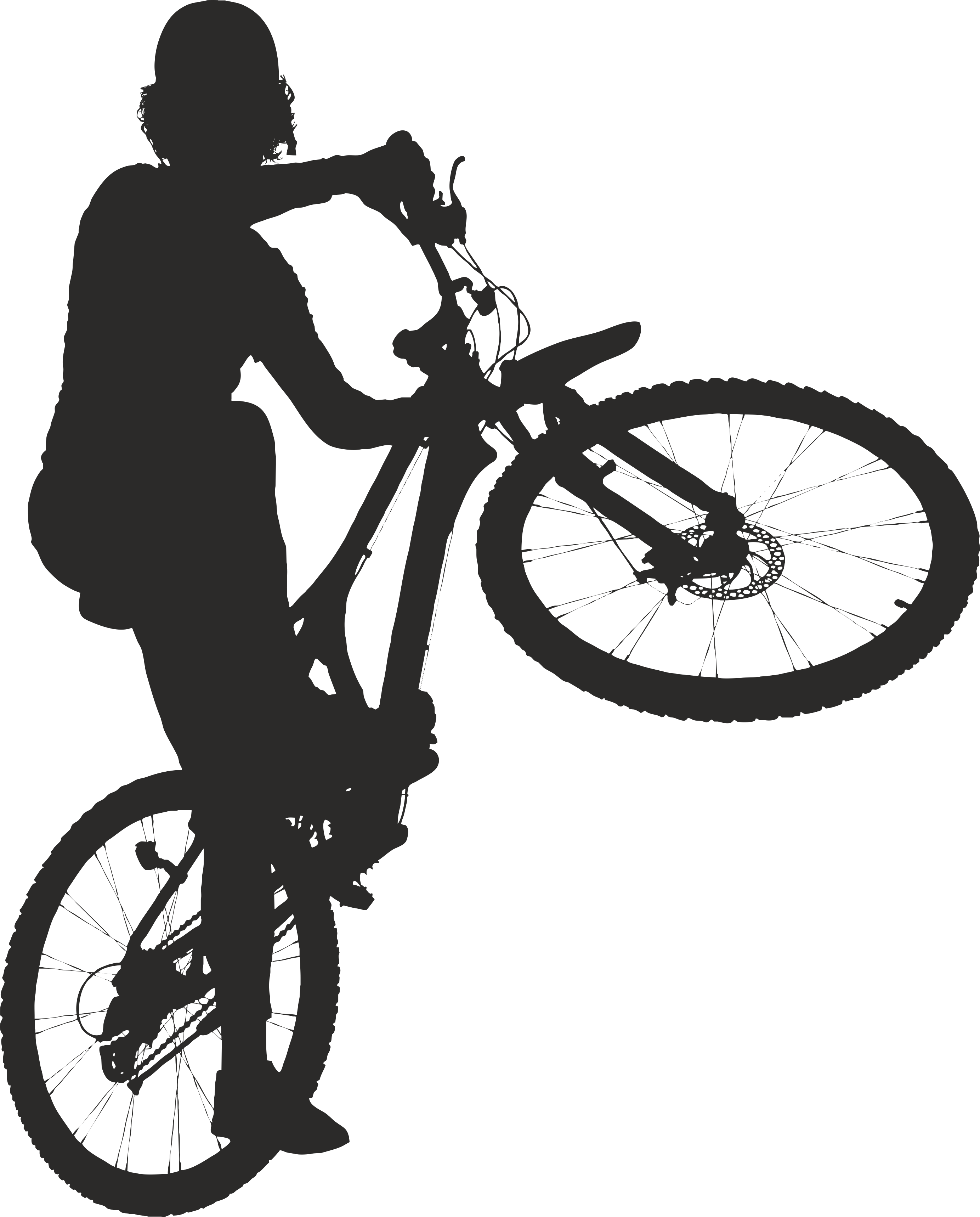 Silhouette Cyclist Collection Of Bicycle 22 Free DXF File