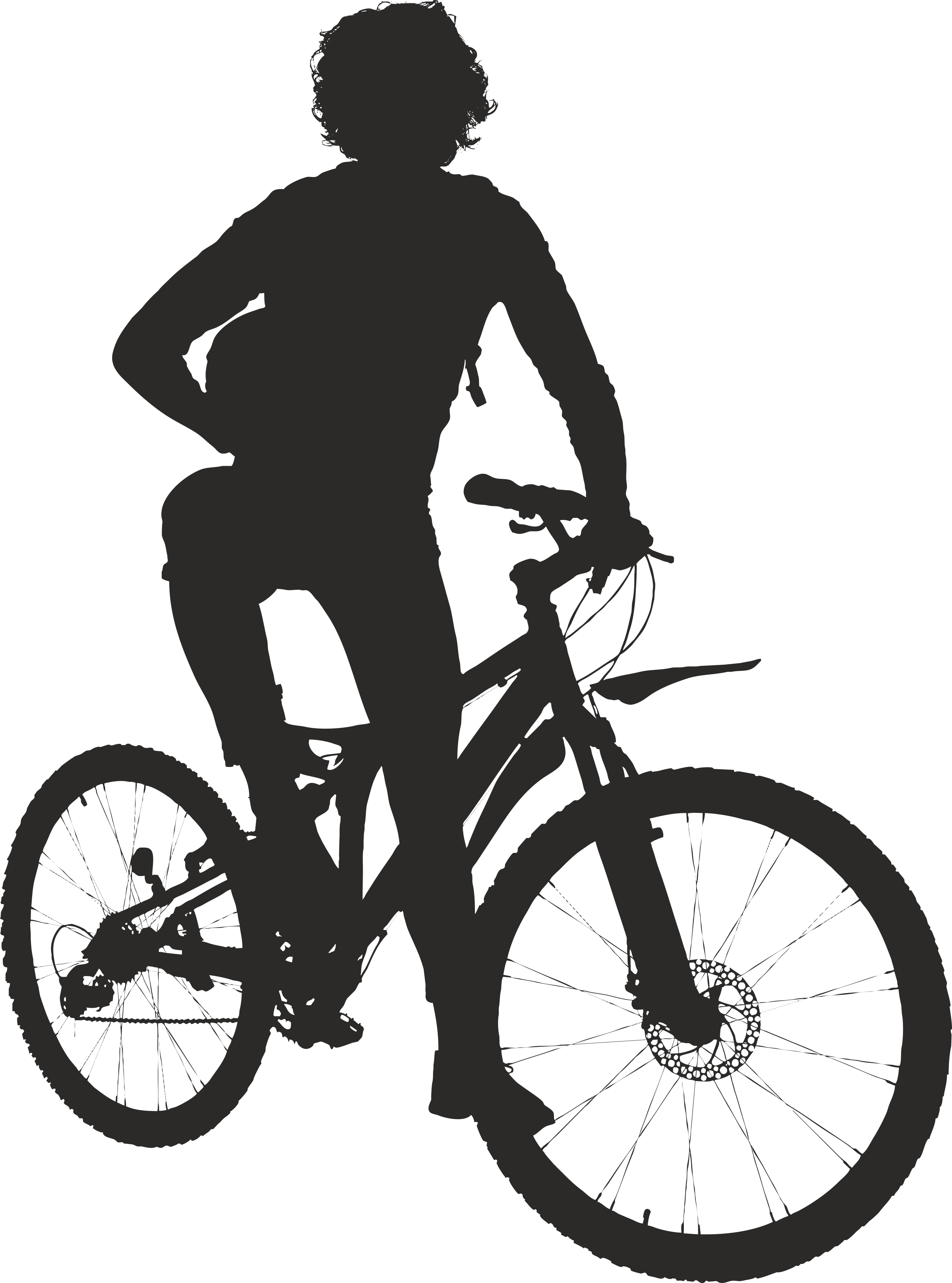 Silhouette Cyclist Collection Of Bicycle 23 Free DXF File