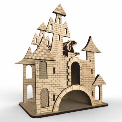 Tea House Castle Layout Free DXF File