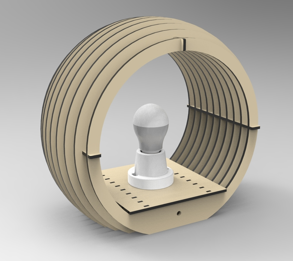 Layout Of A Table Lamp Sphere Free DXF File
