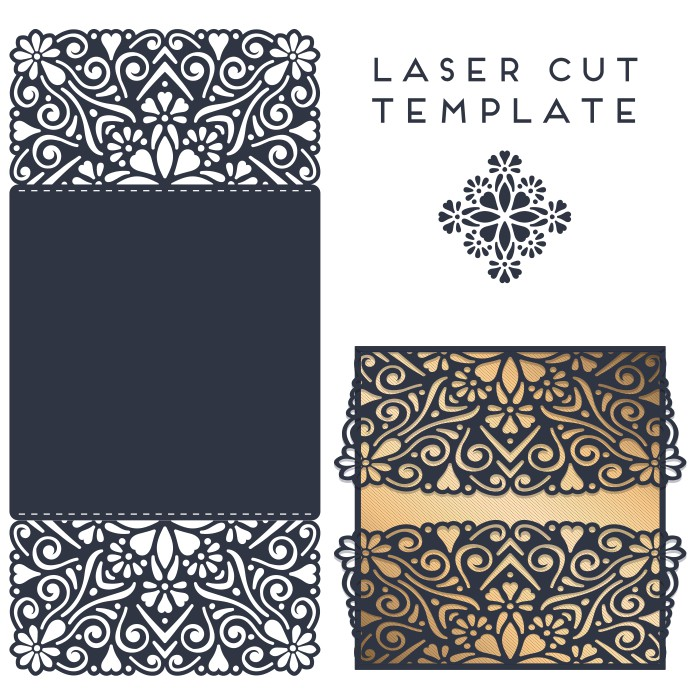 Template Of The Envelope Postcard 010 Free DXF File