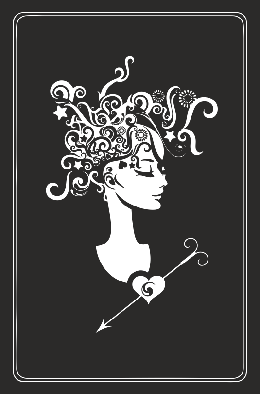 Zodiac Signs In The Form Of Female Busts 01 Free DXF File