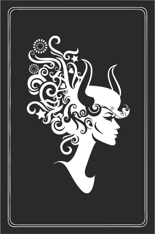 Zodiac Signs In The Form Of Female Busts 03 Free DXF File