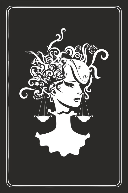 Zodiac Signs In The Form Of Female Busts 04 Free DXF File