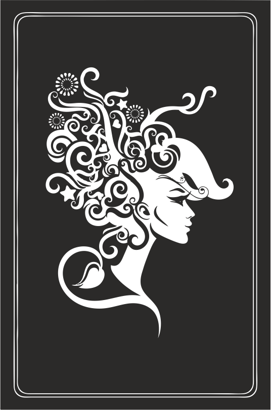 Zodiac Signs In The Form Of Female Busts 06 Free DXF File