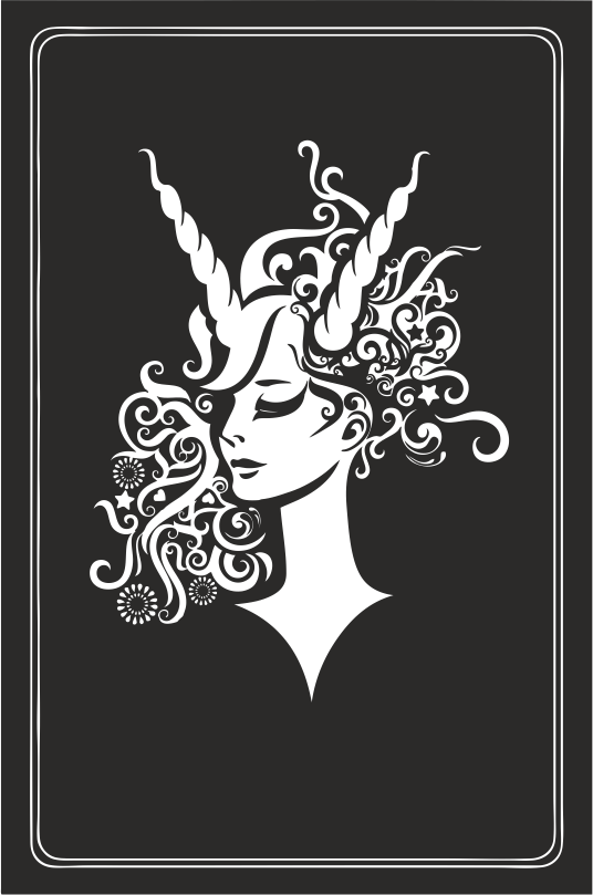Zodiac Signs In The Form Of Female Busts 07 Free DXF File