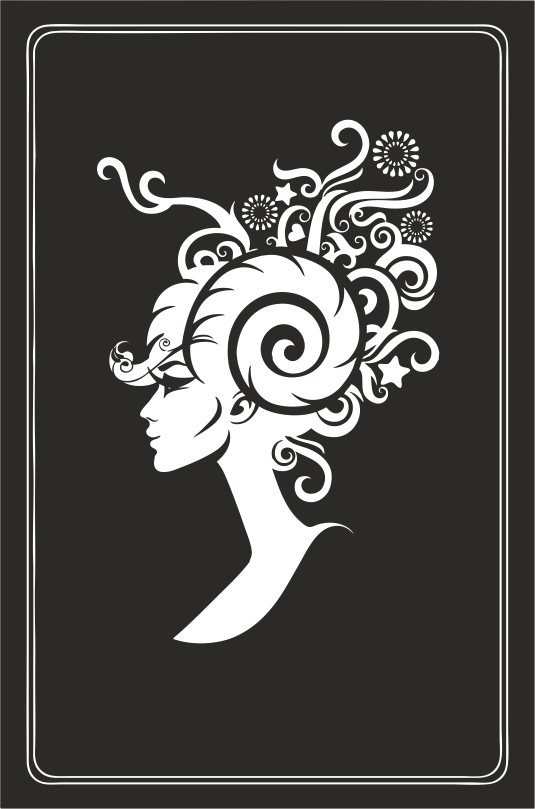 Zodiac Signs In The Form Of Female Busts 12 Free DXF File