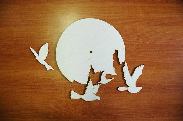 Laser Cut Bird Clock For Kids Room Template Free CDR Vectors Art
